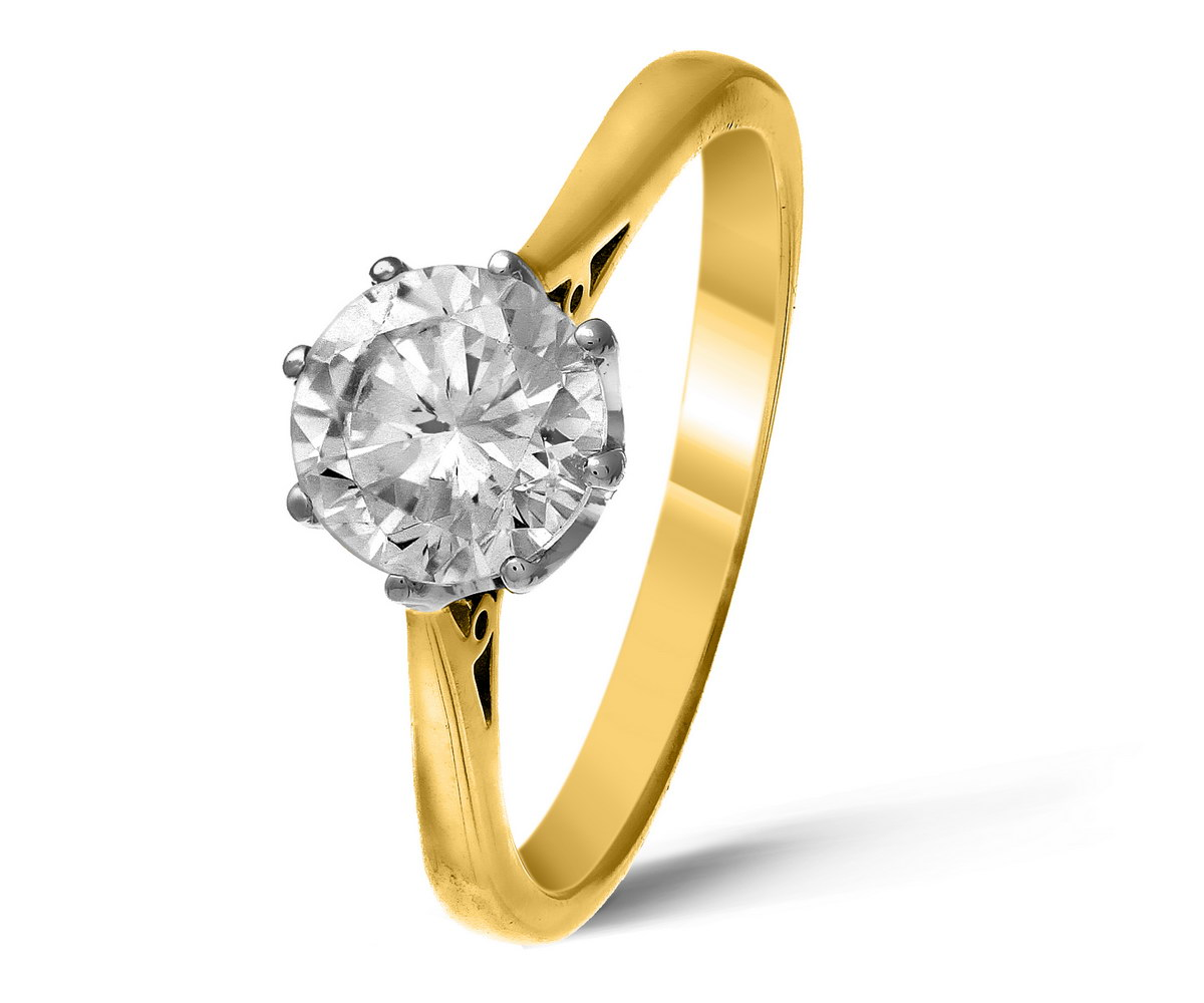 Clearance 1ct H I I1 Diamond 9k Yellow Gold Solitaire Ring Ebay